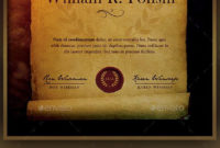 Certificate Templatedownload Here Http//Graphicriver regarding Best Certificate Scroll Template