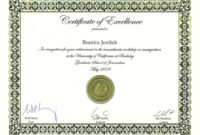 Certificate Templates Certificate Of Excellence Template intended for Quality Award Of Excellence Certificate Template