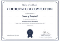 Certificate Templates Formal Completion Certificate with Certificate Template For Project Completion