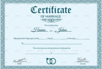 Certificate Templates Free Editable Marriage Certificate in Awesome Blank Marriage Certificate Template