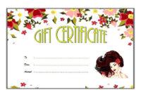 Certificate Templates Hair Salon Gift Certificate intended for Best Salon Gift Certificate Template