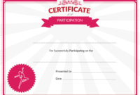 Certificate Templates Printable Dance Certificate Of inside Printable Ballet Certificate Templates