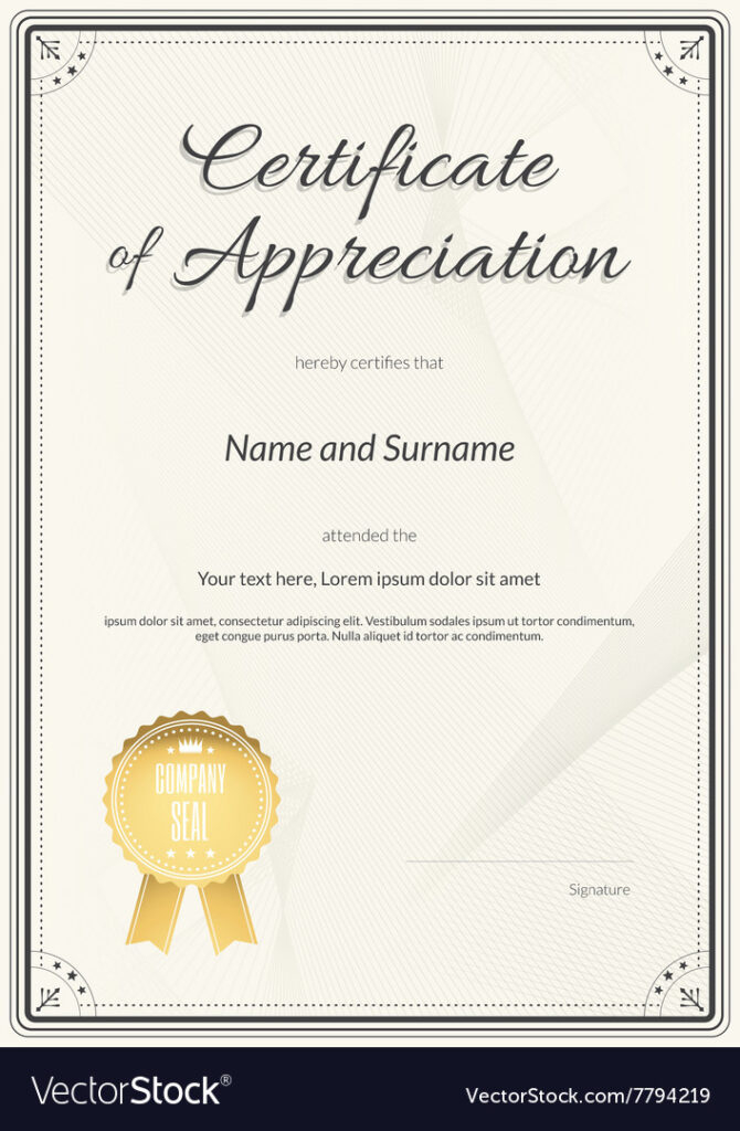 Certificate Templates with regard to Awesome Thanks Certificate Template