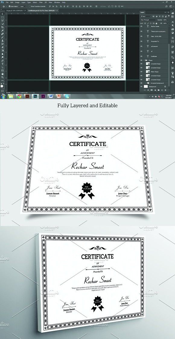 Certificate  V04  Certificate Templates Stationery regarding Mock Certificate Template