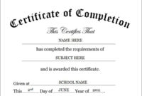Certificateofcompletiontemplate  Certificate Of with Finisher Certificate Template 7 Completion Ideas