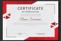 Certificateofrecognitionwithredtrianglescertificate for Printable Recognition Certificate Editable