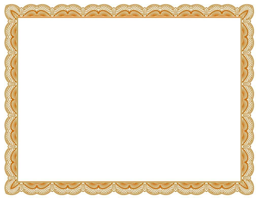 Certificates Borders Free Download  Clipart Best pertaining to Awesome Free Printable Certificate Border Templates