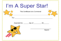 Certificates For Kids  2 Free Templates In Pdf Word inside Quality Star Certificate Templates Free