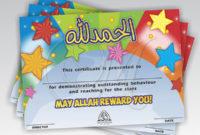 Certificates Good Behaviour On Behance for Good Behaviour Certificate Editable Templates