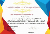 Certificates Of Completion Templates For Microsoft Word in Class Completion Certificate Template