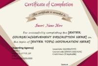 Certificates Of Completion Templates For Microsoft Word pertaining to Awesome Class Completion Certificate Template