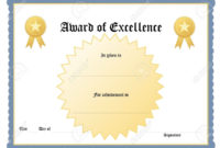 Certificates Outstanding Blank Award Certificate Template within Best Free Printable Blank Award Certificate Templates