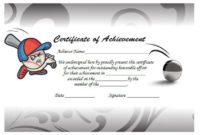 Certificatesoftball4  Awards Certificates Template inside Free Softball Certificate Templates