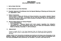 Chairman S Agenda Definition  Fill Print  Download in Best Town Hall Meeting Agenda Template