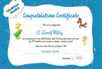 Chatter Books Congratulations Certificate Design Template with regard to Congratulations Certificate Template