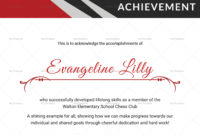 Chess Achievement Certificate Design Template In Psd Word within Badminton Achievement Certificate Templates