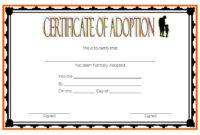 Child Adoption Certificate Template Editable 10 Best for Best Dog Adoption Certificate Editable Templates