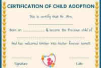 Child Adoption Certificates 10 Free Printable And intended for Child Adoption Certificate Template Editable