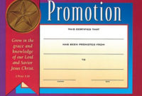 Children'S Certificate Of Promotionwww throughout Printable Promotion Certificate Template