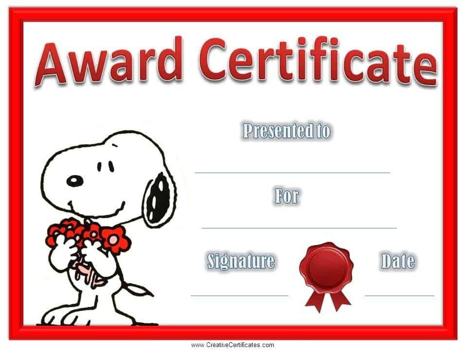 Children'S Certificates  Free And Customizable pertaining to Printable Winner Certificate Template