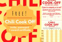 Chili Cookoff Insider Free Invite Scorecard And Award intended for Chili Cook Off Certificate Templates