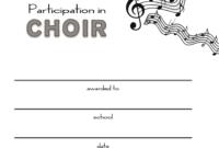 Choir Certificate Template  Business Plan Templates intended for Choir Certificate Template