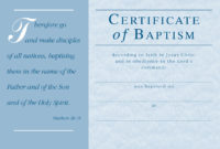 Christian Baptism Certificate Template  Great Sample within Best Christian Certificate Template