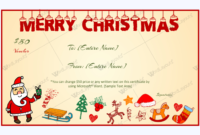Christmas Gift Certificate Template 15  Gift Card in Christmas Gift Certificate Template Free