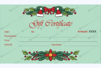 Christmas Gift Certificate Template 30  Word Layouts throughout Gift Certificate Template In Word 10 Designs