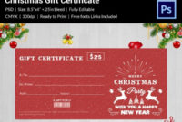 Christmas Gift Certificate Templates  21 Psd Format intended for Printable Christmas Gift Certificate Template Free Download