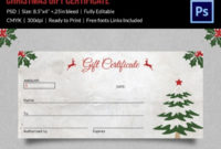 Christmas Gift Certificate Templates  21 Psd Format within Printable Christmas Gift Certificate Template Free Download