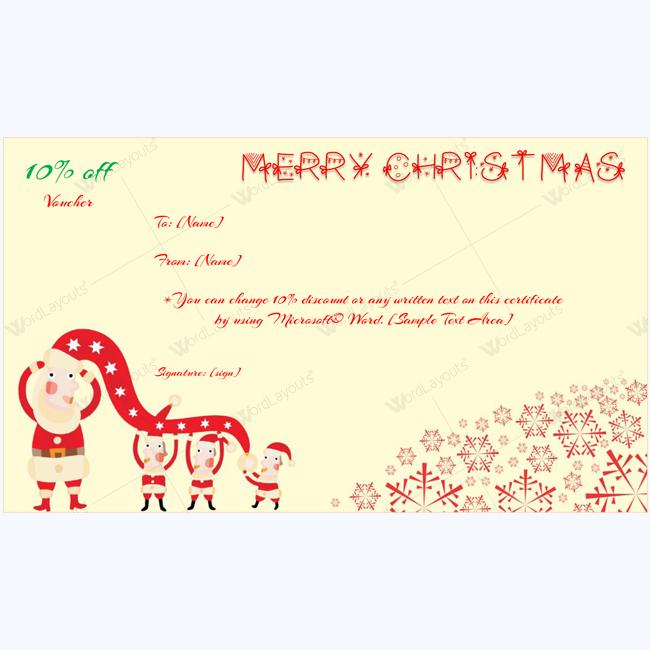 Christmas Gift Certificate Templates 99 Editable in Amazing Christmas Gift Certificate Template Free