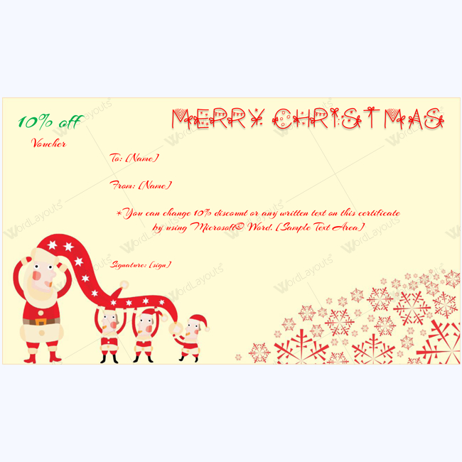 Christmas Gift Certificate Templates 99 Editable with Awesome Holiday Gift Certificate Template Free 10 Designs