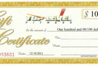 Christmas Gift Idea  Naperville Fitness And throughout Free 10 Fitness Gift Certificate Template Ideas
