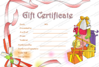 Christmas Hampers Gift Certificate Template  Gift with regard to Holiday Gift Certificate Template Free 10 Designs