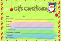 Christmas Letter Gift Certificate Template  Gift intended for Homemade Christmas Gift Certificates Templates