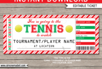 Christmas Tennis Ticket Gift Voucher Template Surprise throughout Tennis Gift Certificate Template