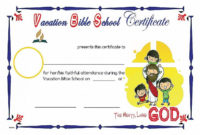 Church Certificate Templates Luxury Vbs Certificate for Vbs Certificate Template