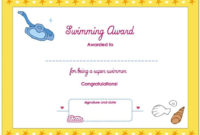 Collection Of Solutions For Swimming Certificate Templates regarding Amazing This Certificate Entitles The Bearer To Template
