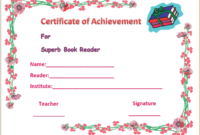 Colorful Best Reader Award  Gct  Certificate Of with regard to Printable Math Certificate Template 7 Excellence Award