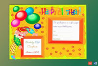 Colorful Clown Happy Birthday Gift Certificate Template  Gct with regard to Free Birthday Gift Certificate