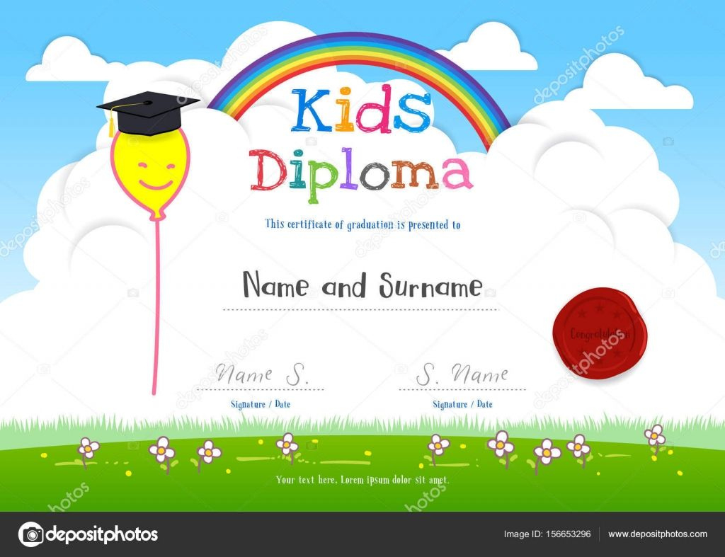 Colorful Kids Summer Camp Diploma Certificate Template In pertaining to Awesome Summer Camp Certificate Template
