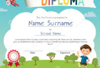 Colorful Kids Summer Camp Diploma Certificate Template pertaining to Awesome Summer Camp Certificate Template