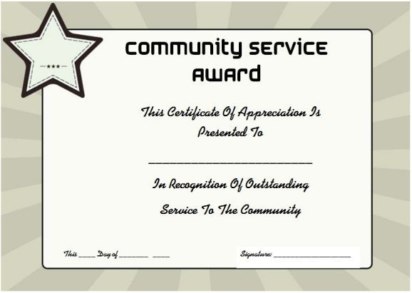 Community Service Certificate Of Completion 10 Readymade throughout Free Congratulations Certificate Template 10 Awards