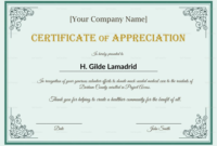 Company Employee Appreciation Certificate Design Template regarding Manager Of The Month Certificate Template