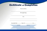 Completion Certificate Editable  10 Template Ideas throughout Best Certificate Of Completion Template Free Printable