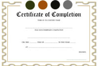 Completion Certificate Editable  10 Template Ideas throughout Quality Training Completion Certificate Template 10 Ideas
