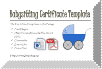 Completion Certificates  Op Templates pertaining to Amazing Free Printable Babysitting Gift Certificate