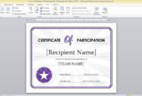 Conference Participation Certificate Template 1 throughout Quality Conference Participation Certificate Template