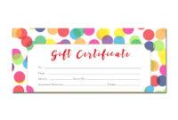 Confetti Birthday Gift Certificate Gift Certificate inside Best Best Girlfriend Certificate Template